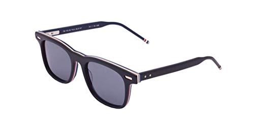 Thom Browne /Matte Black Gold Metal Sunglasses w/Dark Grey - AR 50mm