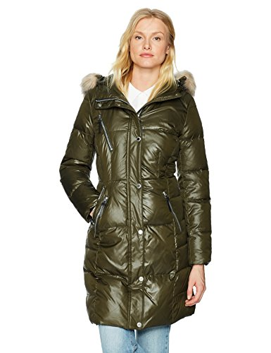 """Marc New York by Andrew Marc Women's Leigh 37"""" Lacquer Puffer Jacket"""