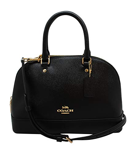 Coach Womens Mini Sierra Satchel Handbag, Crossgrain Leathe