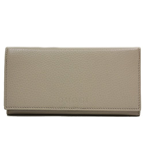 Gucci Beige Leather Continental Flap Wallet