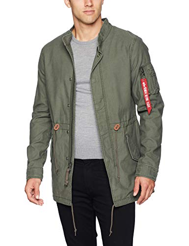 Alpha Industries Men's Recruit Fishtail Thigh Length Zip Parka
