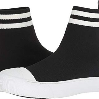 Neil Barrett Men's Sports Stripe Techknit Sock Sneaker Black/White