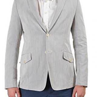 Versace Collection Men's Gray Two Button Sport Coat Blazer
