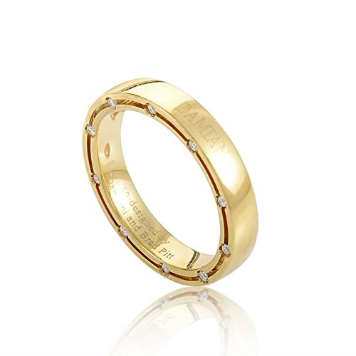 Damiani D.Side Brad Pitt 18K Yellow Gold 20-Diamond Band Ring