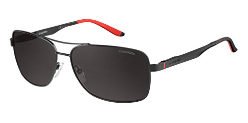 Carrera Men's Rectangular, Matte Black & Gray Polarized, 61 mm