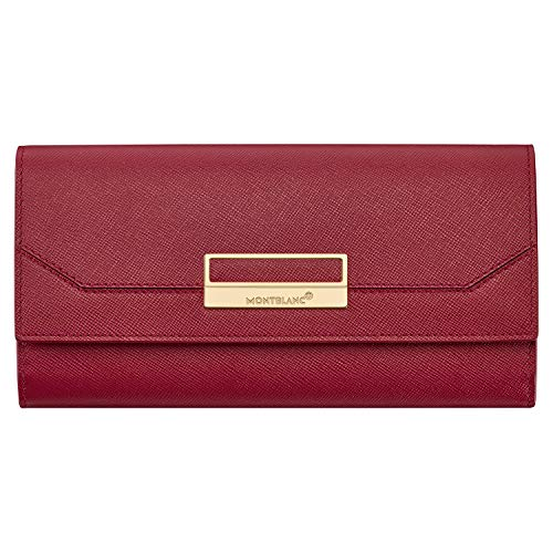 Montblanc Sartorial Long Ladies 10cc Red Leather Wallet with Flap