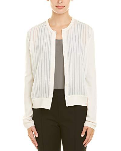 Akris Womens Cashmere & Silk-Blend Jacket, 10, White