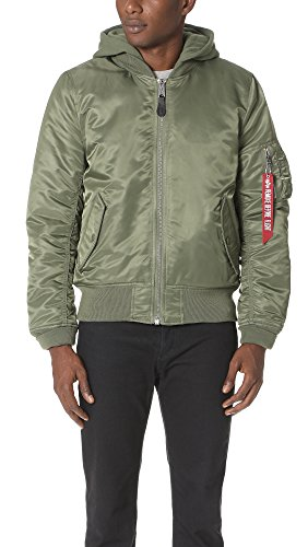 Alpha Industries Men's Natus Jacket, Sage, Medium