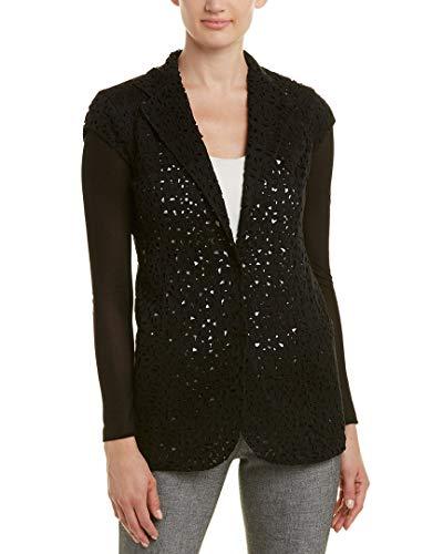 Akris Womens Silk Jacket, 2, Black