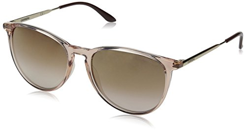 Carrera Square Sunglasses, Pink Brown Mirror Gold, 54 mm