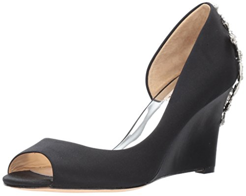 Badgley Mischka Women's Meagan Pump, Black, 7 M US