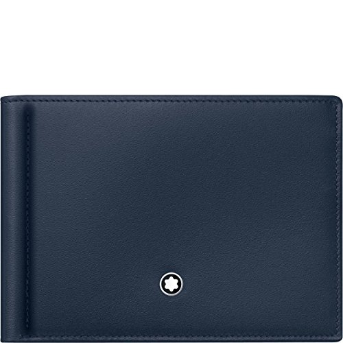 Montblanc Meisterstuck Men's Leather Wallet 6cc with Money Clip