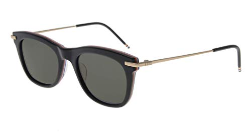 Thom Browne /Matte Black-RWB - 12k Gold Sunglasses w/Dark Grey - AR 52mm