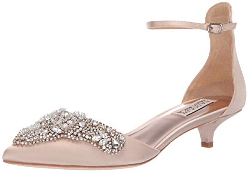 Badgley Mischka Women's FIANA Pump, Nude Satin, 6.5 M US