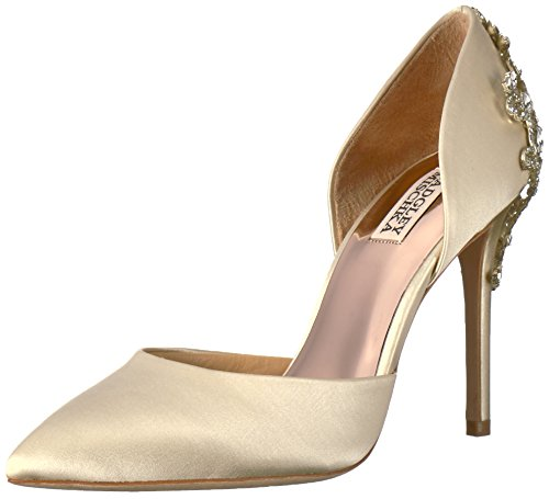 Badgley Mischka Women's Karma Pump, Ivory, 8 Medium US
