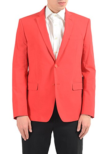 Versace Collection Men's Red Stretch Two Button Blazer Sport Coat Versace Collection Men's Red Stretch Two Button Blazer Sport Coat
