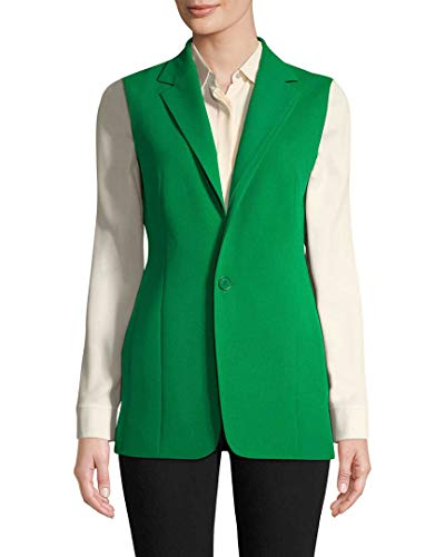 Akris Womens Solid Wool Vest, 10 Green