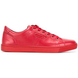 Dolce e Gabbana Men's Red Leather Sneakers