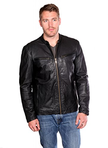 Marc New York by Andrew Marc Men's Lightweight Calf-Leather Moto Jacket