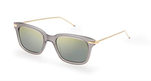 THOM BROWNE Sunglasses Satin Crystal Grey - 18K Gold 49mm