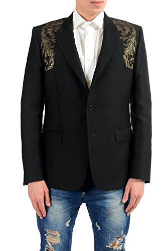 Versace Collection Men's Silk Detailed Blazer Sport Coat