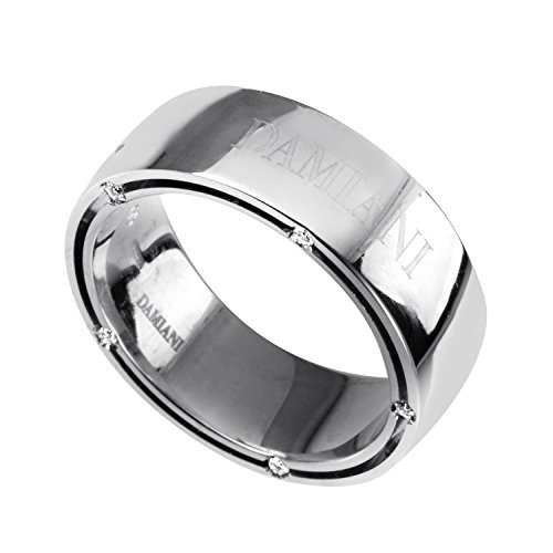 Damiani D. Side Women's 18K White Gold Diamond Band Ring