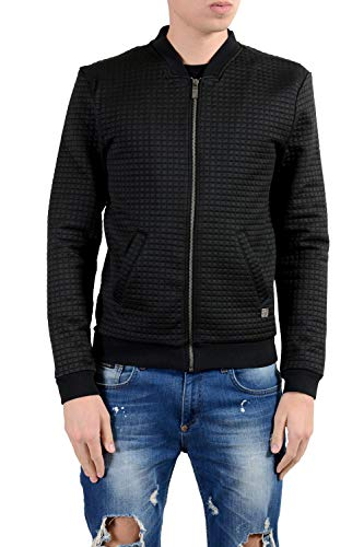 Versace Collection Black Full Zip Men's Basic Jacket