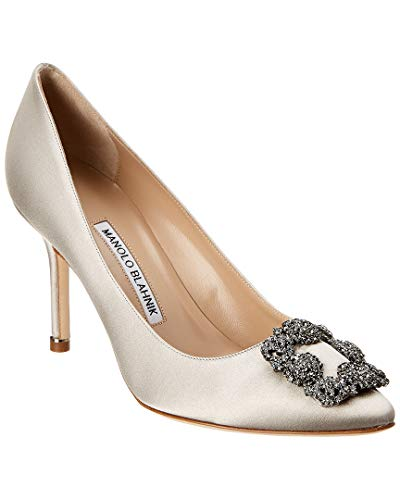 Manolo Blahnik Hangisi 70 Satin Pump, 36, Grey