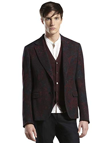 Gucci Men's Multi-Color Runway Sketch-Printed Flannel Dandy Jacket