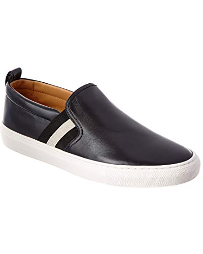 BALLY Herald Leather Sneaker, 11 UK, Blue