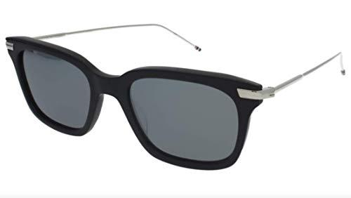 Thom Browne/Navy - Silver Sunglasses w/Dark Grey - Silver Mirror - AR 49mm
