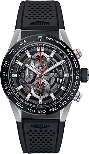 TAG Heuer Carrera Men's Watch Skeleton Dial w/ Black Rubber Strap