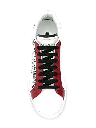 Dolce e Gabbana Men's Cs1612au45589926 White Leather Sneakers
