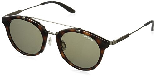 Carrera Men's Round Sunglasses, Havana Gold/Brown, 49 mm