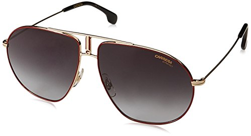 Carrera Men's Bounds Aviator Sunglasses, RED Gold/Dark Gray Gradient, 62 mm