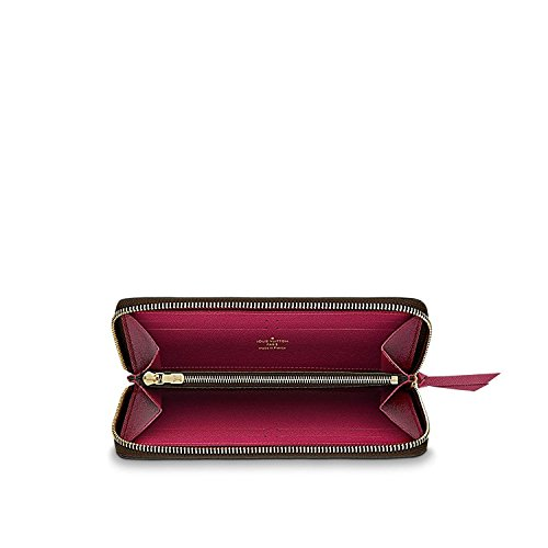 Louis Vuitto Monogram Canvas Fuchsia Clemence Wallet