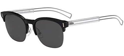 Christian Dior Black Tie 207/S Sunglasses Black Ruthenium Crystal / Gray