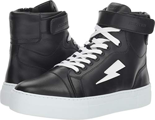 Neil Barrett Men's Thunder Basketball Sneaker Black/White