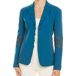 Akris Womens Wool-Blend Jacket, 10, Blue