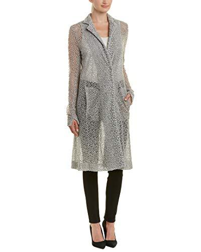Akris Womens Wool & Silk-Blend Jacket, 6, Grey