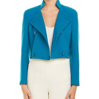 Akris Womens Wool Jacket, 14, Blue