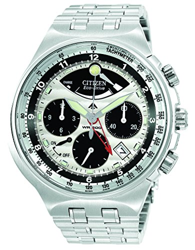 Mens Citizen Eco Drive Calibre Watch in Stainless Steel