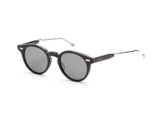THOM BROWNE Matte Black-Silver w/ Dark Grey-AR Sunglasses