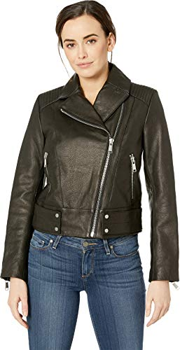 Marc New York by Andrew Marc Women's Paley Moto Jacket Black X-Small