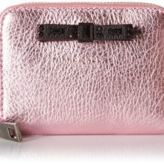 Marc Jacobs Women's Metallic Bow Zip Card Case, Pink, One Size