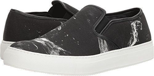 Neil Barrett Men's Liquid Ink Slip-On Sneaker Black/White