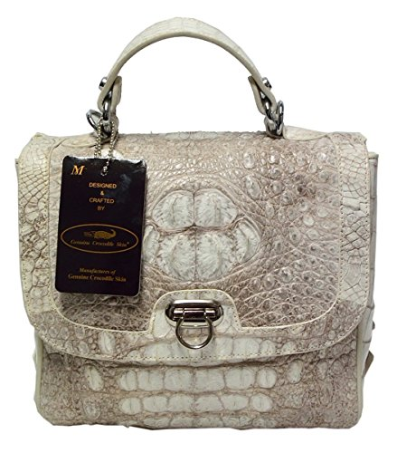 Authentic M Crocodile Skin Womens Hornback Leather Bag