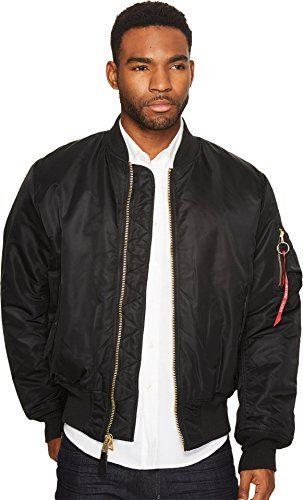 Alpha Industries Men's Flight Jacket,Black,Large