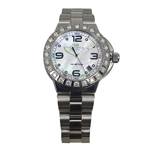 ENIGMA By Gianni Bulgari Unisex Caterpillar Diamond 38mm Steel