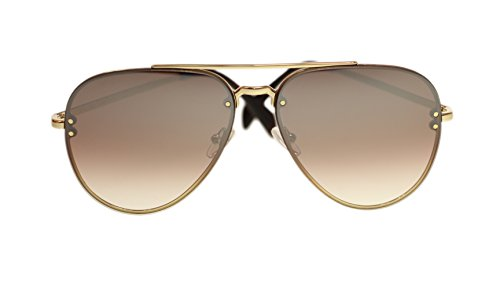 Celine Unisex Sunglasses Gold/Brown Gradient Silver Aviator 58mm